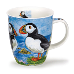 Dunoon Nevis Shape Mug - Highland Animals Puffin - Gift Boxed