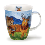 Dunoon Nevis Shape Mug - Highland Animals Stag - Gift Boxed