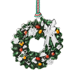 Newbridge Silverware Christmas Wreath with Bow Hanging Decoration