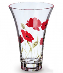 Nobile Glass Poppy Fields Flared Vase 19cm 2024-19