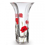 Nobile Glass Poppy Fields Flared Vase 22.5cm 2029-19