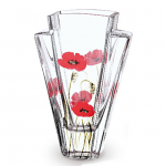 Nobile Glass Poppy Fields Quad Vase 22cm 2027-19