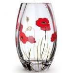 Nobile Glass Poppy Fields Round Vase 20cm 2025-19