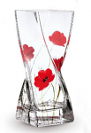 Nobile Glass Poppy Fields Twist Vase 20cm 2028-19