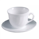 Luminarc White Trianon Cup & Saucer 29cl 9.75oz