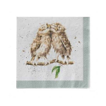 Wrendale Designs - Napkins - Cocktail - What a Hoot (Owls)