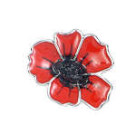 Poppy Brooch - Enamel Poppy Pin Small 20mm
