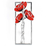 Poppy Brooch - 2in Rennie Mackintosh Style Poppies