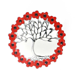 Poppy Brooch - Tree of Life in Poppy Wreath