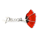 Poppy Brooch - Peace Poppy 50mm