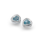 Sea Gems Silver Stud Earrings - Heart & Top Organic