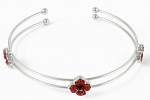 Poppy Bracelet - Open Bangle with 3 Poppies