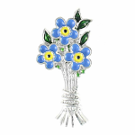 Lila Jewellery Forget Me Not - Bouquet Brooch