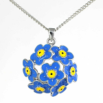Lila Jewellery Forget Me Not - Cluster Pendant