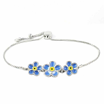 Lila Jewellery Forget Me Not - Slider Bracelet