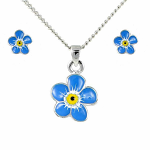 Lila Jewellery Forget Me Not - Pendant & Earrings Set