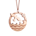 Newbridge Ocean Rose Goldplate Pendant