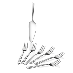 Newbridge Nova Pastry Set - 6 Pastry Fork & Server