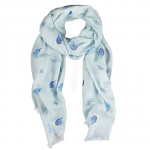 Wrendale Designs Scarf - Practically Perfect Peacock Scarf