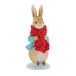 Beatrix Potter - Peter Rabbit in a Festive Scarf Figurine