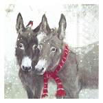 IHR - Napkins - Luncheon - Winter Feeling Pips and Grey Donkey