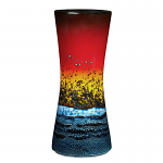 Poole Pottery Sunset Hourglass Vase 34cm