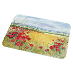 Poppies Glass Chopping Board Worktop Protector Large 50cm x 40cm