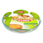 Pyrex Bake & Enjoy Glass Fluted Quiche Flan Dish 24cm