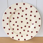 Peregrine Pottery - Queen of Hearts Dinner Plate 11in