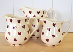 Peregrine Pottery - Queen of Hearts Jug Large 1.25 pint