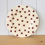 Peregrine Pottery - Queen of Hearts Lunch Plate 9 in