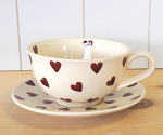 Peregrine Pottery - Queen of Hearts Teacup & Saucer
