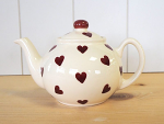 Peregrine Pottery - Queen of Hearts Teapot Tiny 1 Cup 400ml