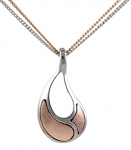 Rose Gold Pendant - Saddle