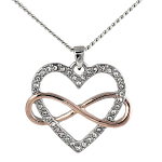 Rose Gold Pendant - Heart & Infinity