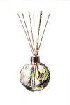 Amelia Reed Diffuser Glass Sphere Purple Teal & Lime (with Reeds)