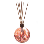 Amelia Reed Diffuser Glass Sphere Pink & White (with Reeds)