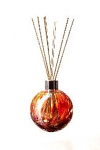Amelia Reed Diffuser Glass Sphere Red & Gold (with Reeds)