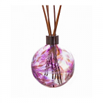 Amelia Reed Diffuser Glass Sphere Violet & Purple (with Reeds)