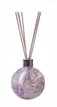 Amelia Reed Diffuser Glass Sphere Violet & White (with Reeds)