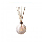 Amelia Reed Diffuser Glass Sphere White (with Reeds)