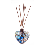 Amelia Friendship Heart Reed Diffuser in White Blue Green (with Reeds)