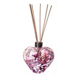 Amelia Friendship Heart Reed Diffuser in White Pink Violet (with Reeds)