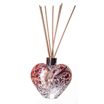 Amelia Friendship Heart Reed Diffuser in Red & White Crackle (with Reeds)