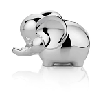 Newbridge Rhodium Plated Elephant Money Bank