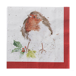 Wrendale Designs - Napkins - Luncheon - Christmas Robin