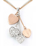 Rose Gold Pendant - Hearts