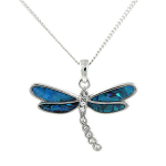 Paua Shell Pendant Large - Dragonfly