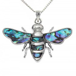 Paua Shell Pendant - Bee
