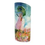 Silhouette d'art Vase - Monet - Woman with a Parasol